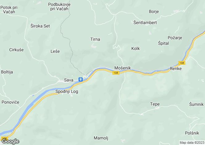 Map for Litija, Sava