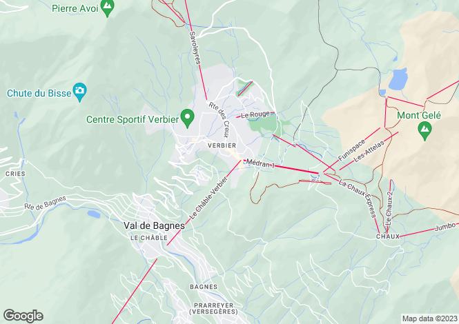 Map for Flaminia 325, Chemin de Vernes, Verbier, Valais