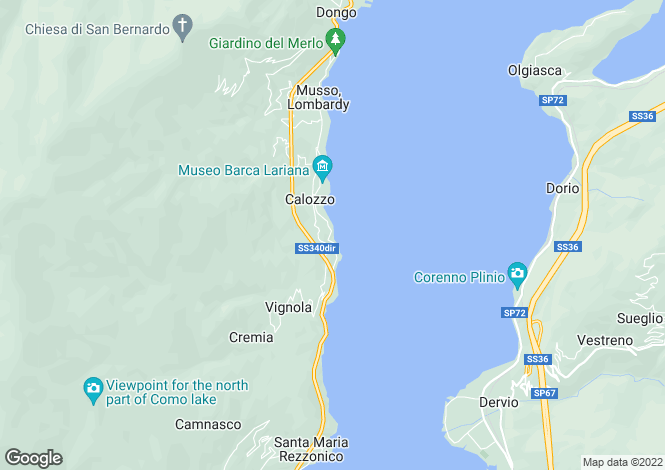 Map for Lombardy, Como, Pianello Del Lario