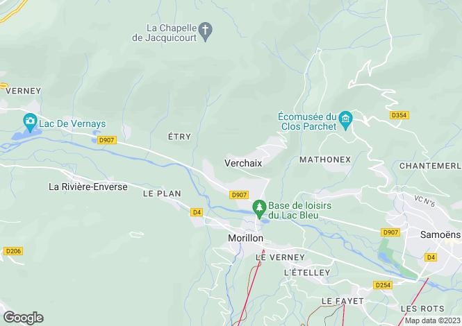 Map for Verchaix, Haute-Savoie, Rhone Alps