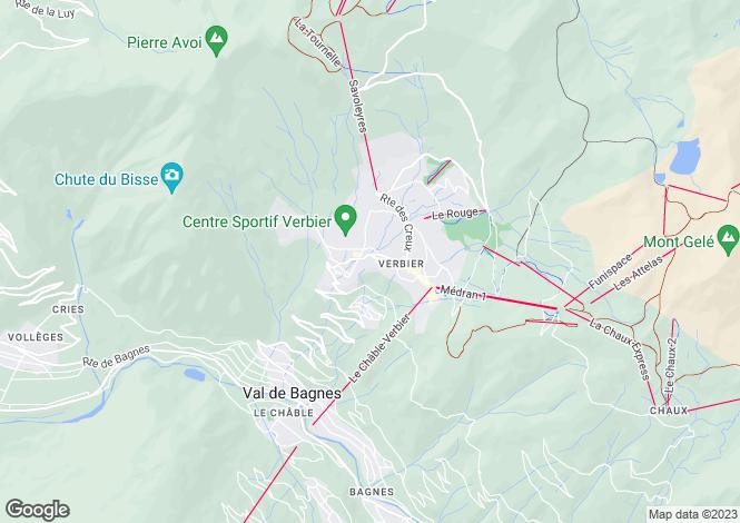 Map for Square Poste 339, Route de Verbier, Verbier, Valais