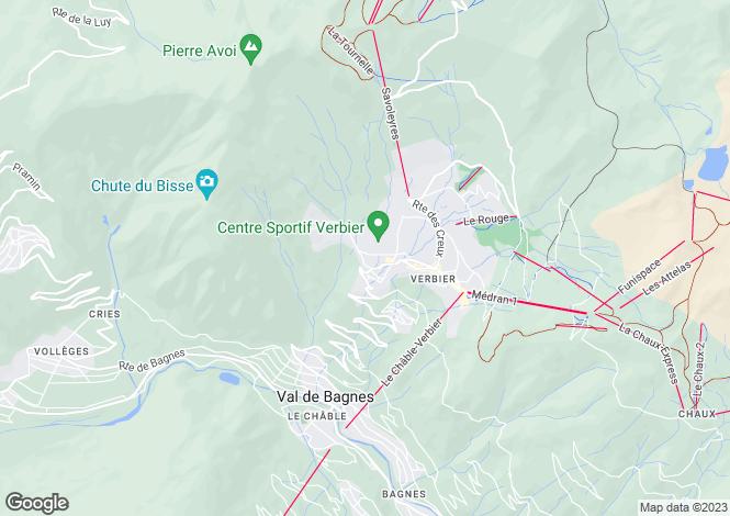 Map for Duplex Apartment, Verbier, Valais