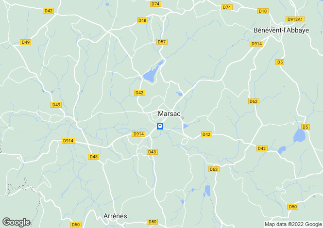 Map for marsac, Creuse, France