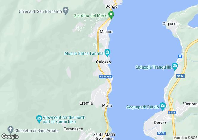 Map for Pianello Del Lario, 22010, Italy