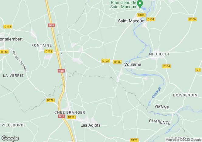 Map for Civray, Poitou-Charentes, 86400, France