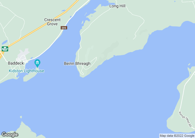 Map for Nova Scotia, Baddeck