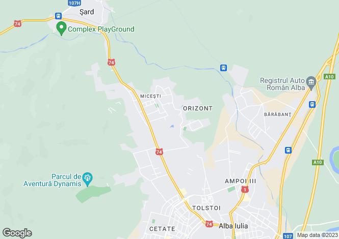 Map for Alba, Alba Iulia
