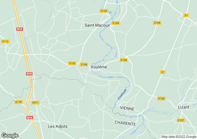 Map for Voulême, Vienne, 86400, France