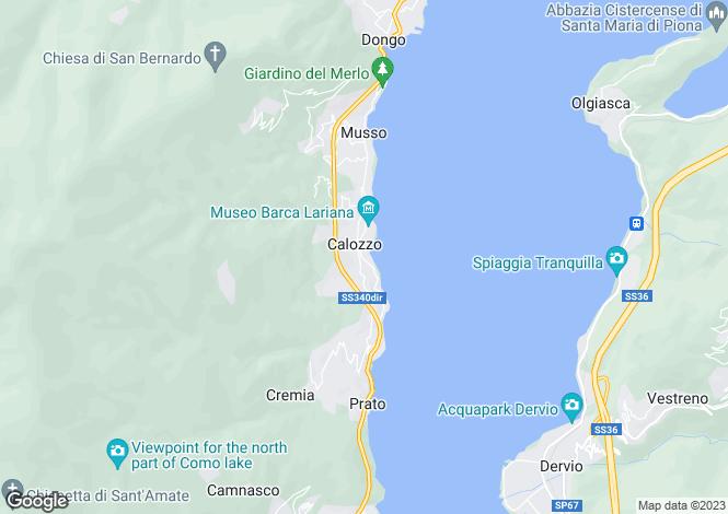 Map for Pianello Del Lario