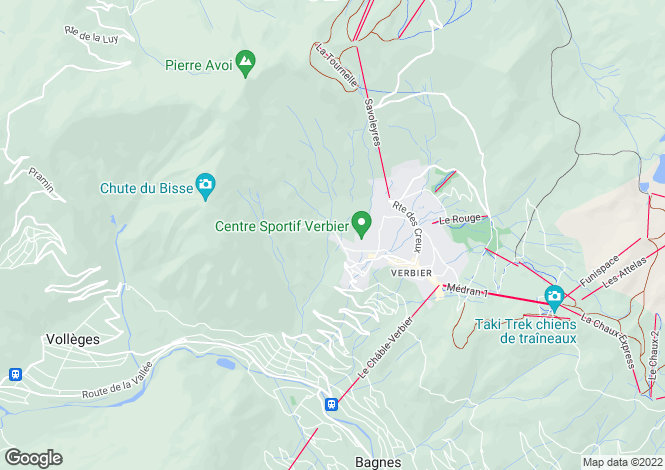 Map for Apartment In Small Building, Verbier, Valais