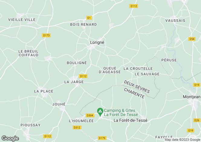 Map for lorigne, Deux-Sèvres, France