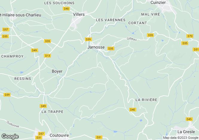 Map for jarnosse, Loire, France