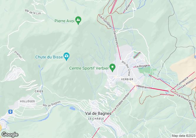 Map for Verbier, Verbier, Valais, Switzerland