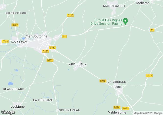 Map for Ardilleux, Deux-Sèvres, 79110, France