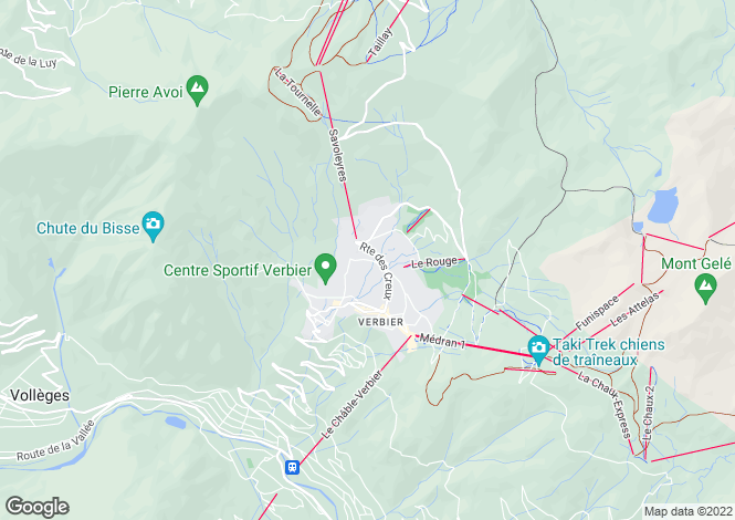 Map for Chalet With Good Views, Verbier, Valais