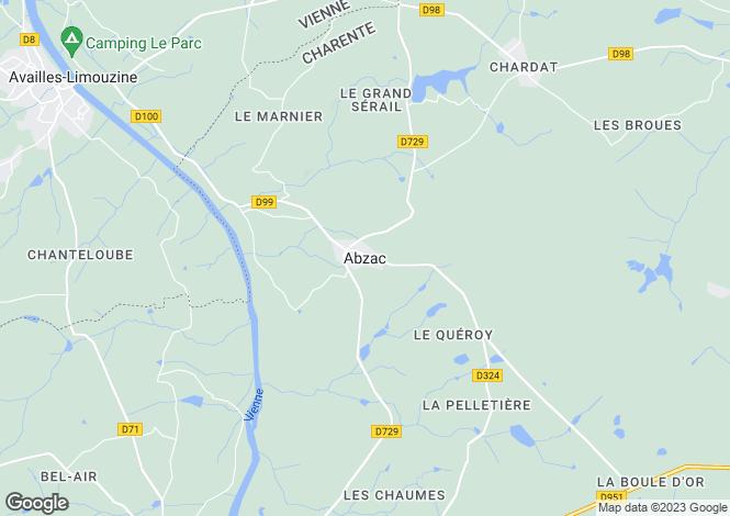 Map for Secteur: Abzac, Charente