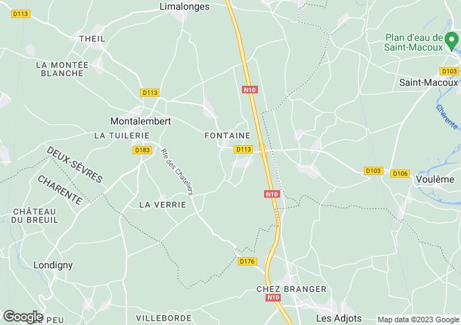 Map for Montalembert, Poitou-Charentes, 79190, France