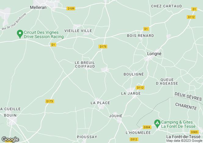 Map for Chef-Boutonne, Deux-Sèvres, Poitou-Charentes