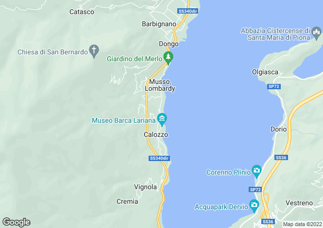 Map for Villa Pianello, Pianello Al Lario, Lake Como, Italy