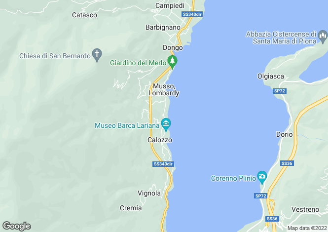Map for Lombardy, Como, Pianello Del Lario