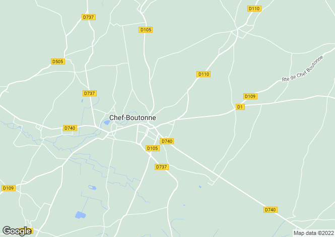 Map for Chef-Boutonne, Deux-Sevres, 79110, France