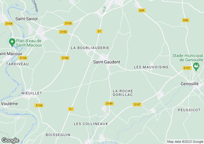 Map for GAUDENT, Poitou-Charentes, 86400, France
