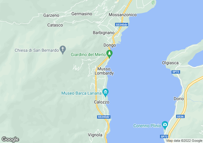 Map for Lake Front Apartment, Musso, Lake Como, Lombardy