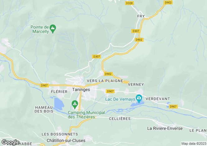 Map for Taninges, Haute-Savoie, Rhone Alps