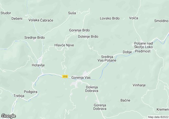 Map for Skofja Loka, Gorenja vas