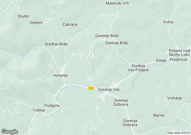 Map for Skofja Loka, Gorenja vas