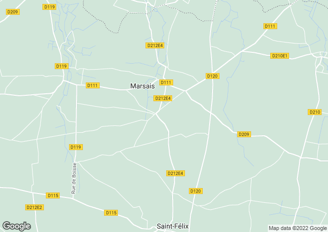 Map for marsais, Charente-Maritime, France