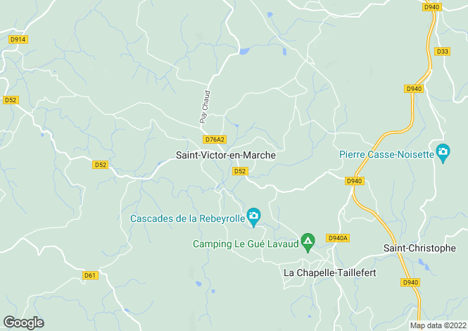Map for Saint-Victor-en-Marche, 23000, France
