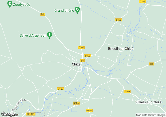 Map for chize, Charente-Maritime, France