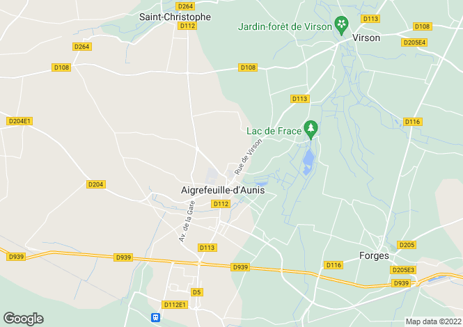 Map for Poitou-Charentes, Charente-Maritime, Aigrefeuille-d`Aunis