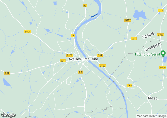 Map for Availles-Limouzine, Poitou-Charentes, 86460, France