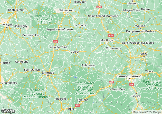Map for vieilleville-mourioux, Creuse, France