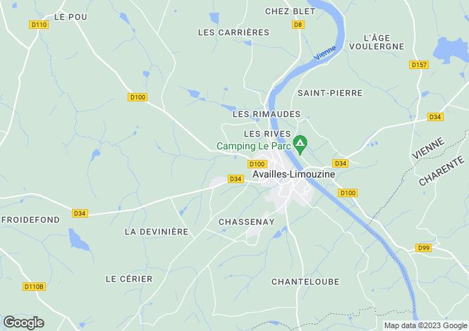 Map for Availles-Limouzine, Vienne, Poitou-Charentes
