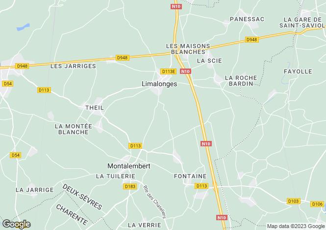 Map for Secteur: Chef-Boutonne, Deux-Sèvres