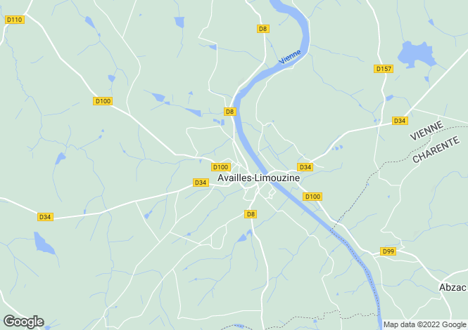 Map for availles-limouzine, Vienne, France