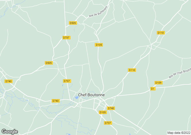 Map for Chef-Boutonne, Poitou-Charentes, 79110, France