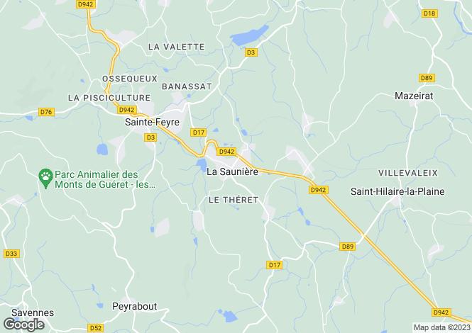 Map for la-sauniere, Creuse, France