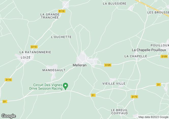 Map for Melleran, Deux-Sèvres, 79190, France