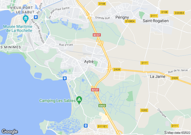 Map for aytre, Charente-Maritime, France