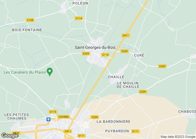 Map for saint-georges-du-bois, Charente-Maritime, France