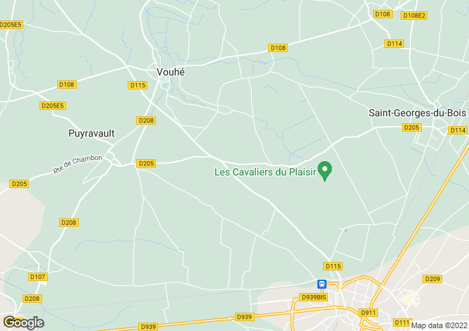 Map for vouhe, Charente-Maritime, France
