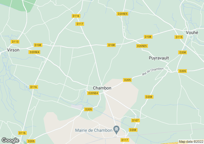 Map for chambon, Charente-Maritime, France
