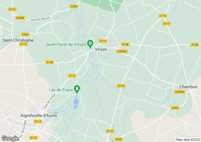 Map for Poitou-Charentes, Charente-Maritime, Virson