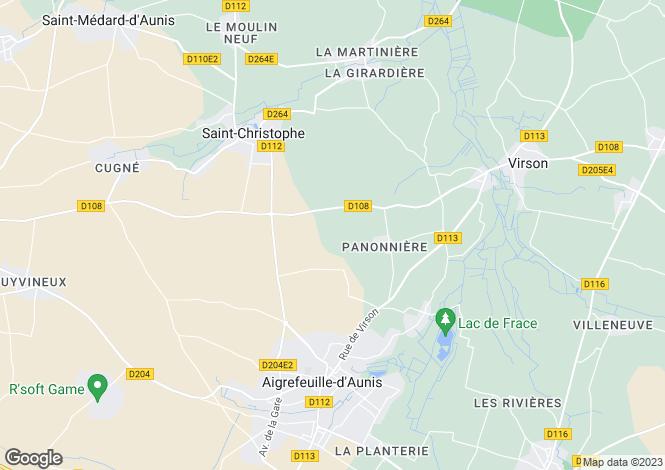 Map for st-christophe, Charente-Maritime, France