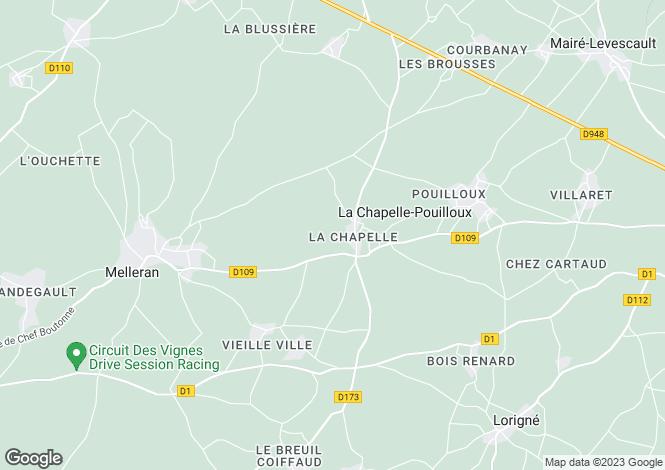 Map for la-chapelle-pouilloux, Deux-Sèvres, France
