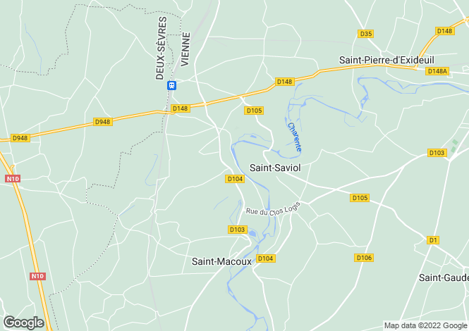 Map for st-saviol, Vienne, France